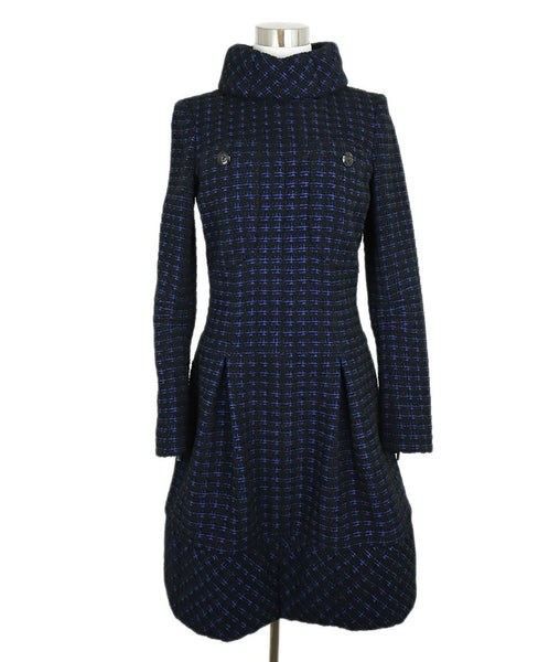 Chanel Black Navy Wool Tweed Pocket Details Dress 1