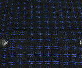 Chanel Black Navy Wool Tweed Pocket Details Dress 6