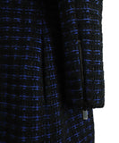 Chanel Black Navy Wool Tweed Pocket Details Dress 7