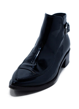 Chanel Black Patent Leather Booties 1