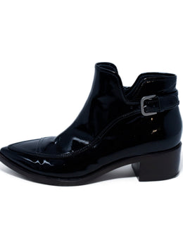 Chanel Black Patent Leather Booties 2