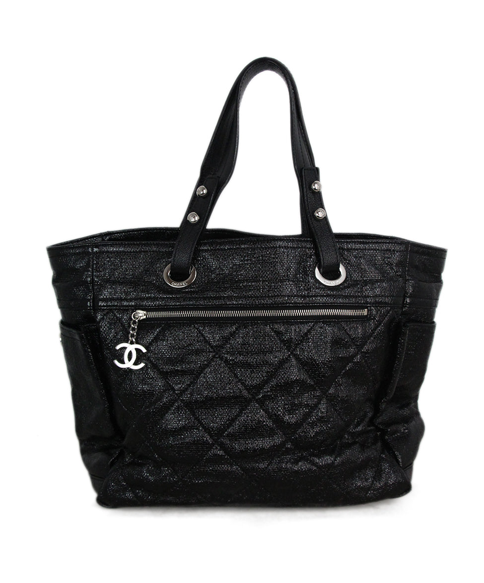 84d83b15cd Tote Chanel Black Patent Leather Handbag - Michael's Consignment NYC