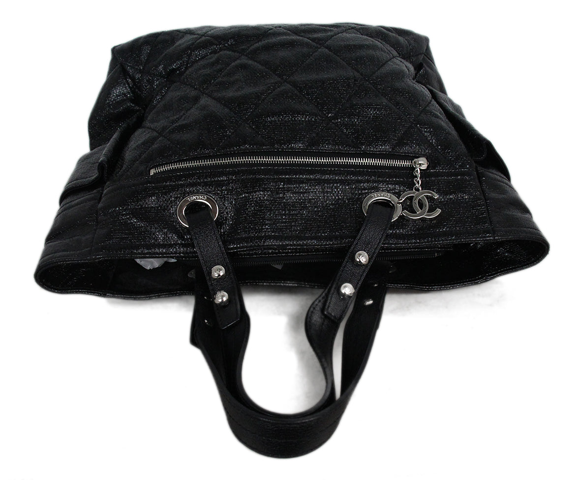121592a3 Tote Chanel Black Patent Leather Handbag - Michael's Consignment NYC