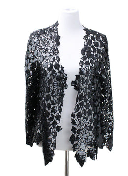Chanel Black Polyester Cotton Sequins Jacket