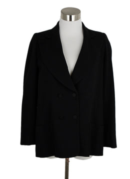 Chanel Black Polyester Viscose Jacket 1