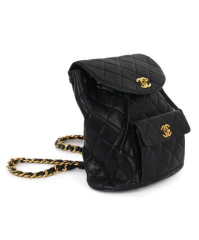 8767a6ec0f22 Chanel black quilted leather backpack 1 Chanel black quilted leather  backpack 1