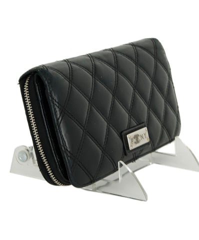 Chanel Black Quilted Leather Wallet 1