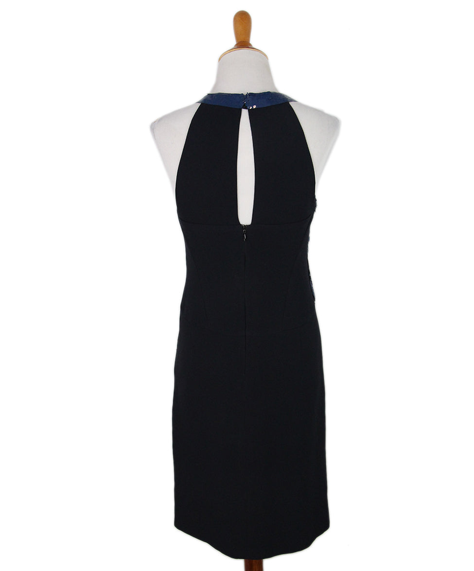 Chanel black silk evening dress 3
