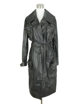 Chanel Black Polyamide Belt Trench Coat 1