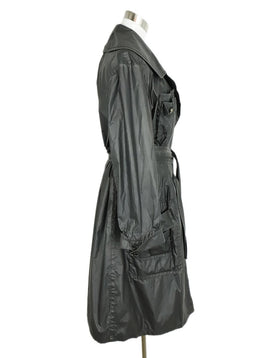 Chanel Black Polyamide Belt Trench Coat 2