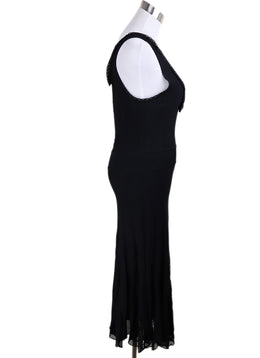 Long Chanel Black Viscose Dress 2