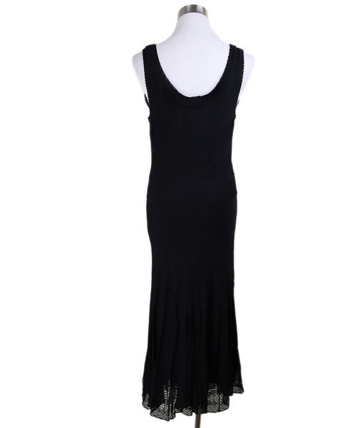 Long Chanel Black Viscose Dress 3