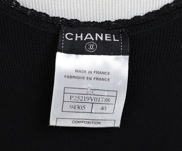 Long Chanel Black Viscose Dress 4