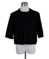 Chanel Black Viscose Gold Lurex Jacket 1
