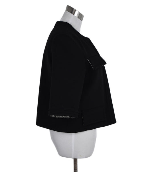 Chanel Black Viscose Gold Lurex Jacket 2