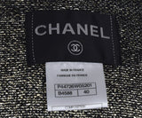 Chanel Black Viscose Gold Lurex Jacket 4