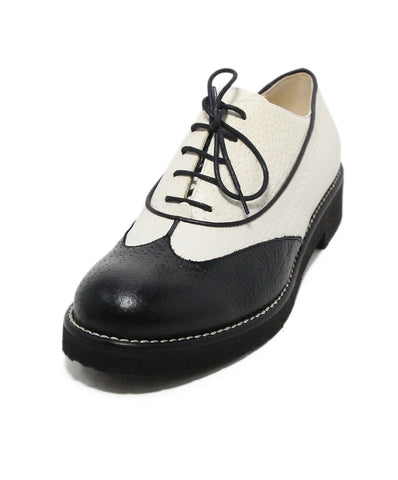 a9030c730a0 Chanel black white leather lace up oxfords 1 ...