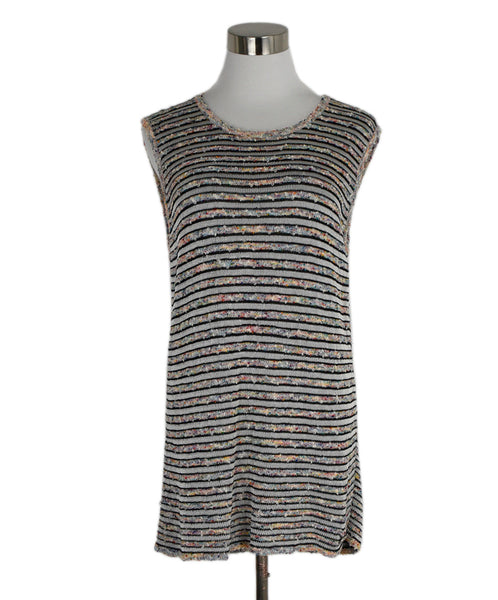 Chanel Black White Multi Viscose Cotton Tunic 1