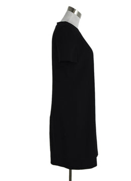 Chanel Black Wool Crepe Dress sz. 8 | Chanel