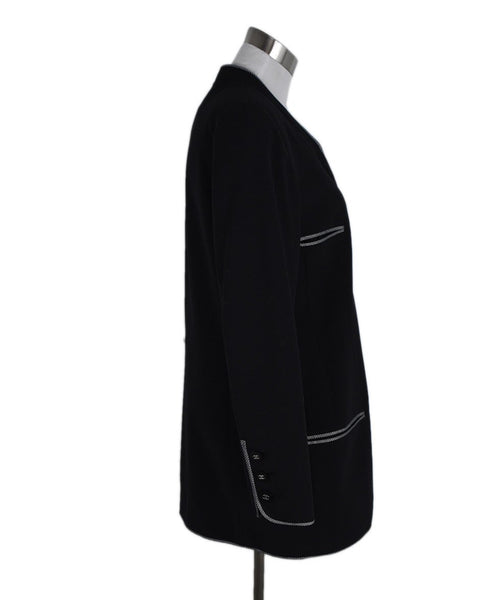 "Chanel ""1996"" Black Wool Grey Jacket 2"