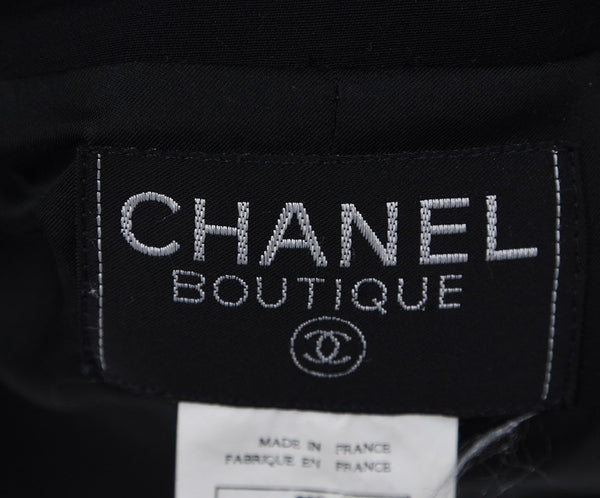 "Chanel ""1996"" Black Wool Grey Jacket 4"