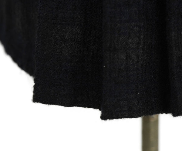 Chanel Black Wool Pleated Trim Top 5