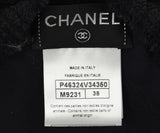 Chanel Black Wool Pleated Trim Top 4