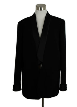 Chanel Black Wool and Satin Jacket 1