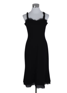 Chanel Black Wool Silk Straps Dress 1