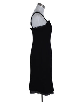 Chanel Black Wool Silk Straps Dress 2
