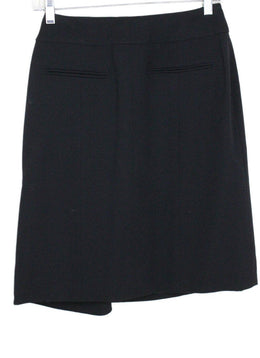 Chanel Black Wool Silk Skirt 1