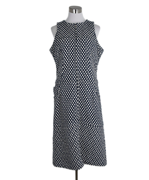Chanel Blue Beige Print Viscose Cotton Dress 1