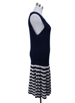 Chanel Blue Ivory Knit Dress 1