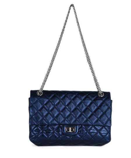Chanel Blue Navy Leather Handbag