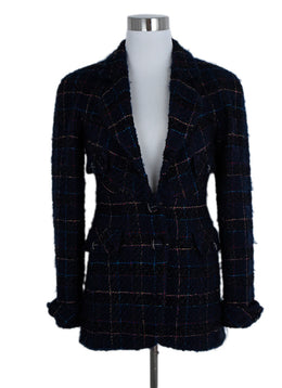 Chanel Blue Navy Tweed Multi Lurex Jacket 1