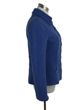Chanel Blue Wool Jacket 1999 2
