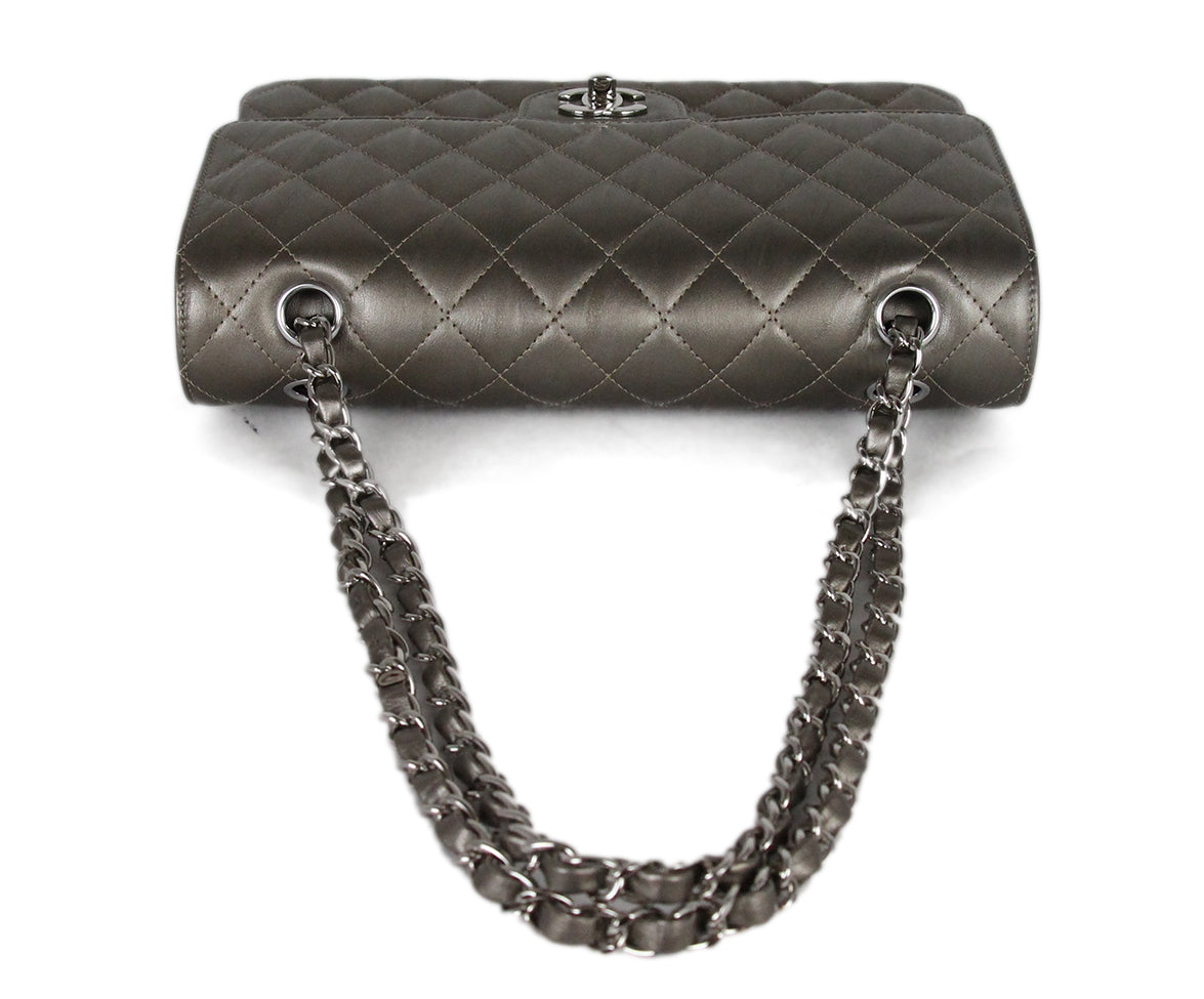Chanel Metallic Bronze Quilted Leather Shoulder Bag 5