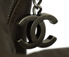 Chanel Pewter Hardware Brown Taupe Leather Shoulder Bag Handbag 10