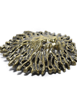 Chanel Metallic Gold Lion Jewelry Pin | Chanel