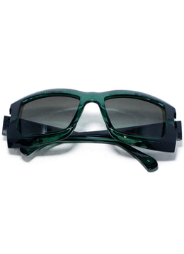 Chanel Green Black Lucite Sunglasses 1
