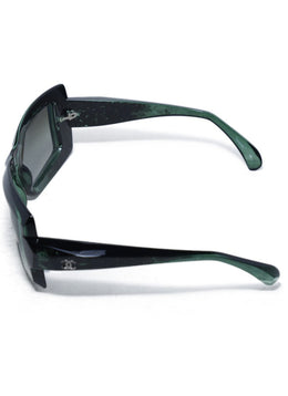 Chanel Green Black Lucite Sunglasses 2
