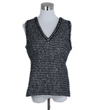 Chanel Grey Black Wool Polyamide Sequins Top 1