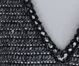 Chanel Grey Black Wool Polyamide Sequins Top 6