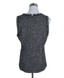 Chanel Grey Black Wool Polyamide Sequins Top 3