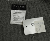 Chanel Size 2 Grey Cashmere Sequins Sweater 4