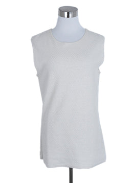 Chanel Ivory Cotton Lurex Sleeveless Top 1