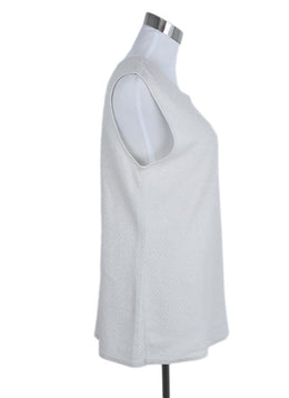 Chanel Ivory Cotton Lurex Sleeveless Top 2