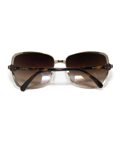 Chanel metallic gold brown sunglasses 1