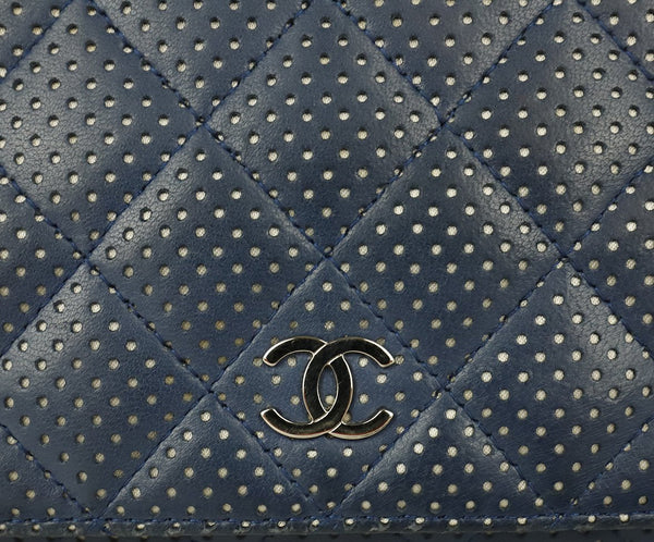 Chanel Navy Perforated Leather Crossbody 9