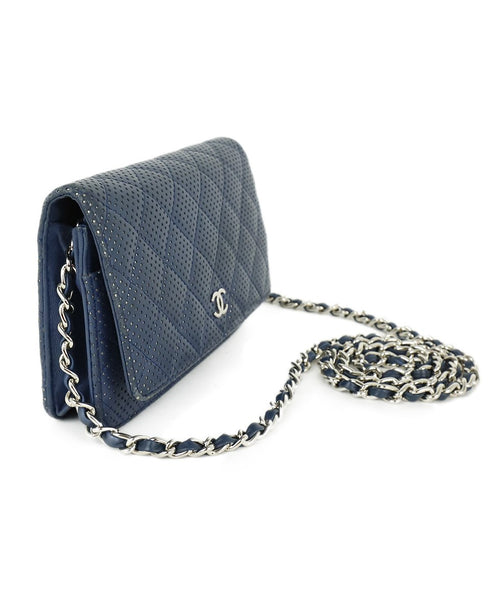 Chanel Navy Perforated Leather Crossbody 2